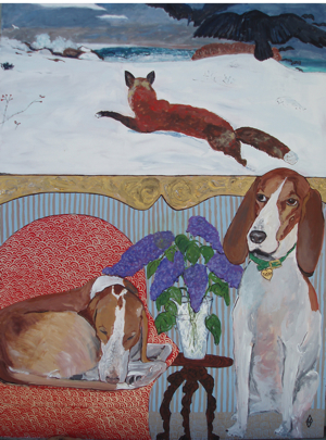 Dog, Cat, lovers, kittens, Puppies, Robins Egg, Gallery, Gifts, Paintings, art, Judy Henn,